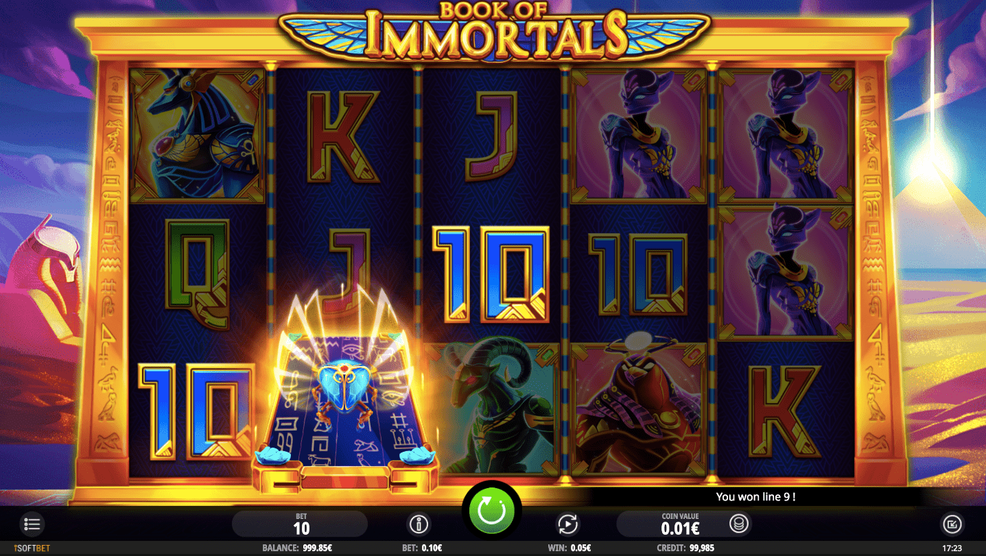 The animations in Book of Immortals slot are really impressive.