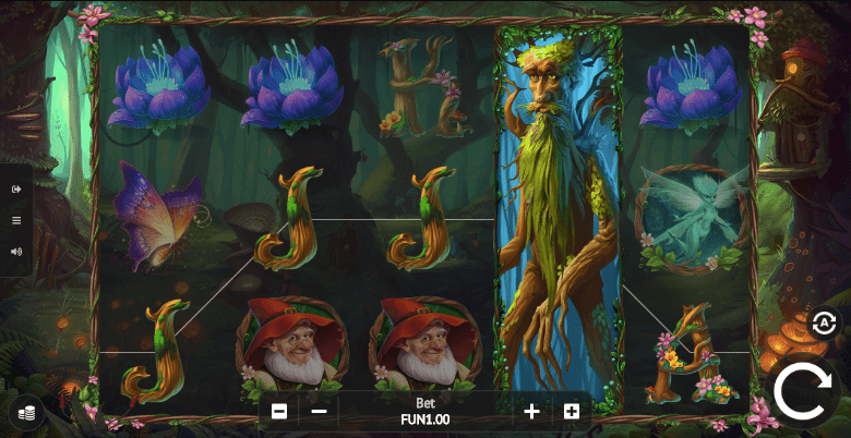 Colorful and lively animations in Faerie Nights slot game from 1x2Gaming.