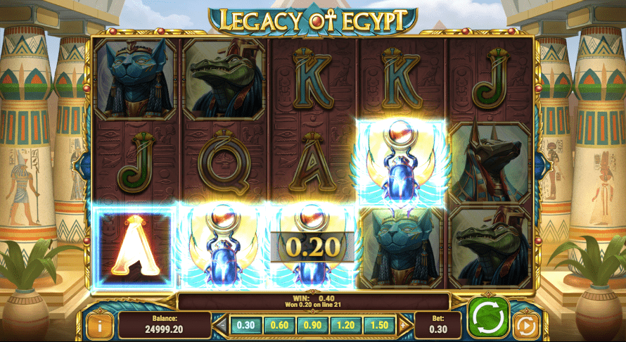 Legacy of Egypt was awarded slot game of the year 2018 by AskGamblers
