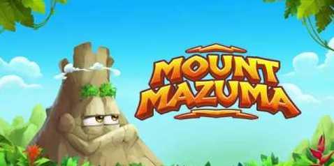 Mount Mazuma logo features a Hawaiian volcano.