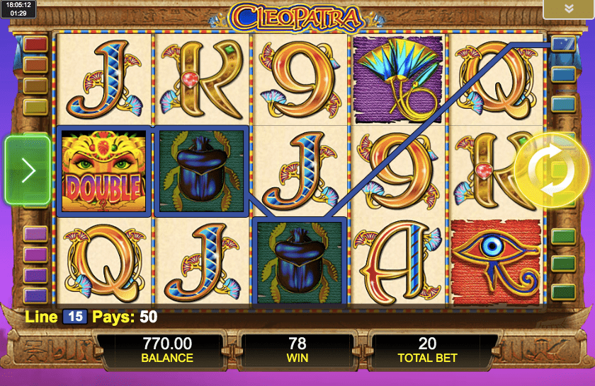 Cleopatra slot from IGT features various bonus combinations, but does not impress visually.