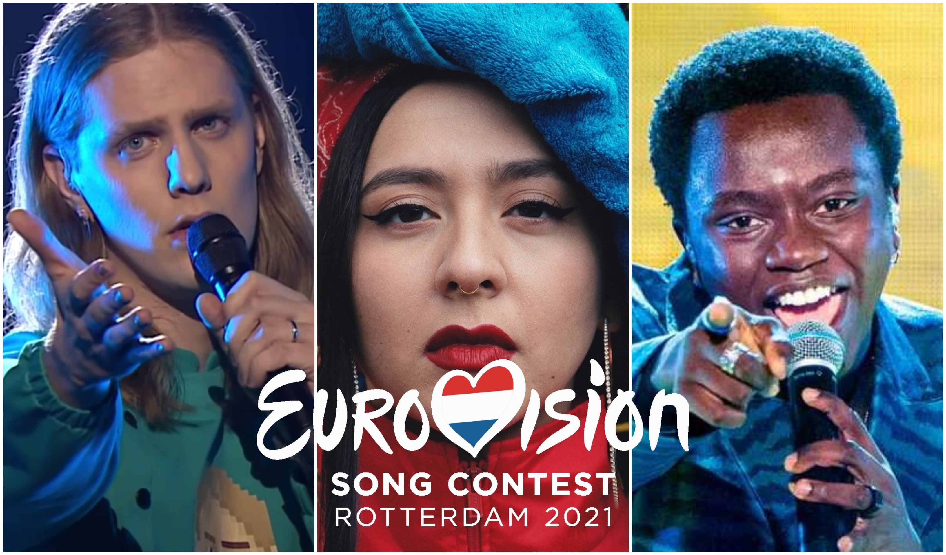 Eurovision 2021 contestants from Iceland, Russia and Sweden.