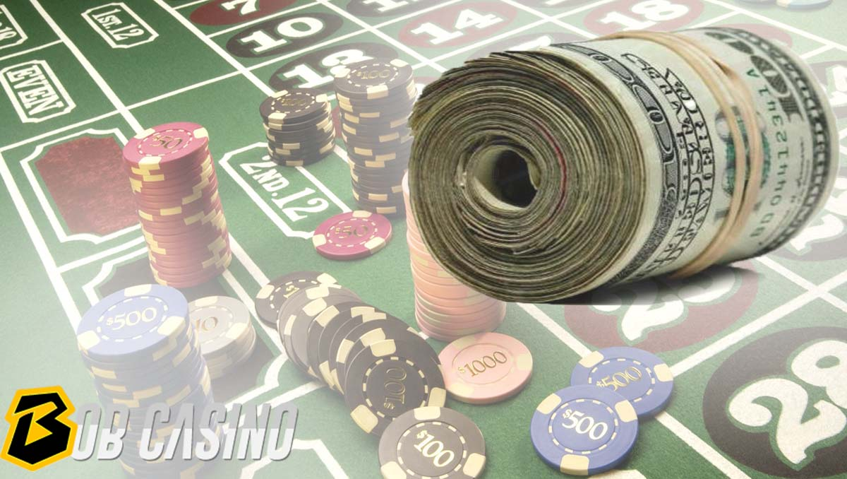 Bet large amount of money in casino