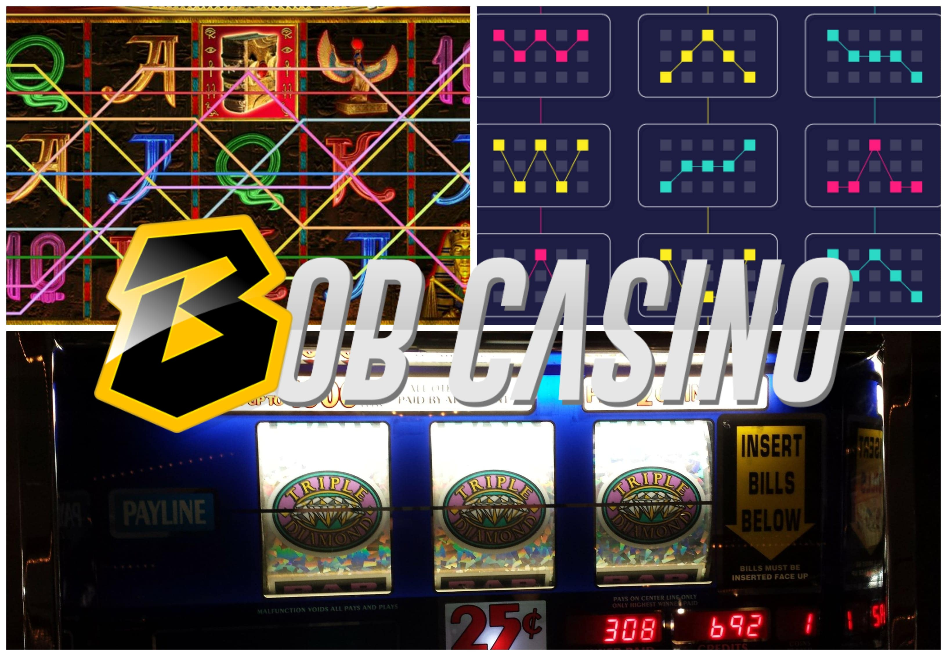 Slot machine paylines and paytable guide from Bob Casino.