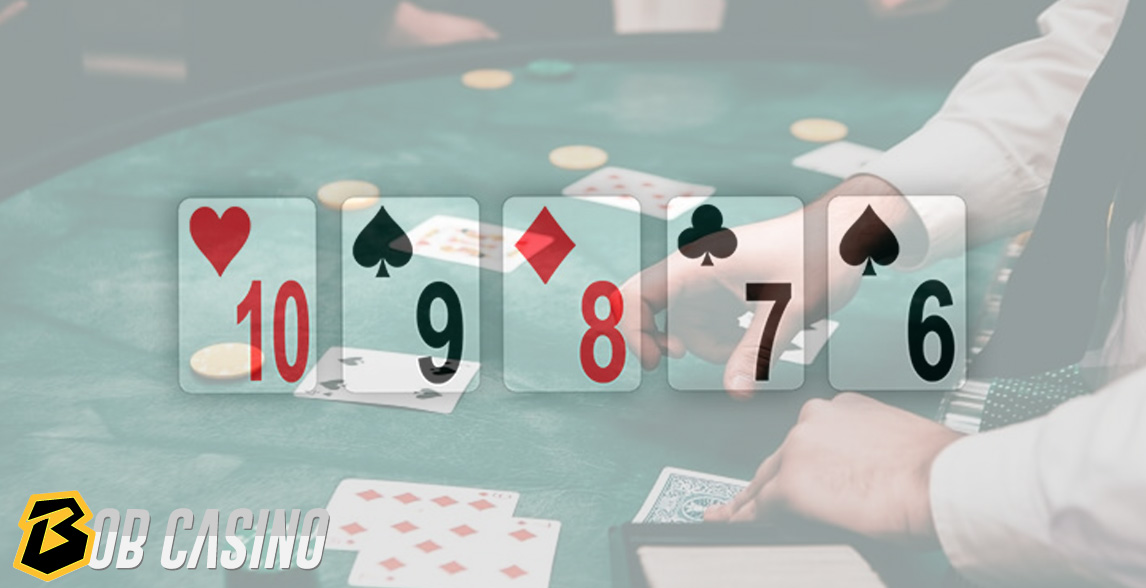Straight hand in poker game