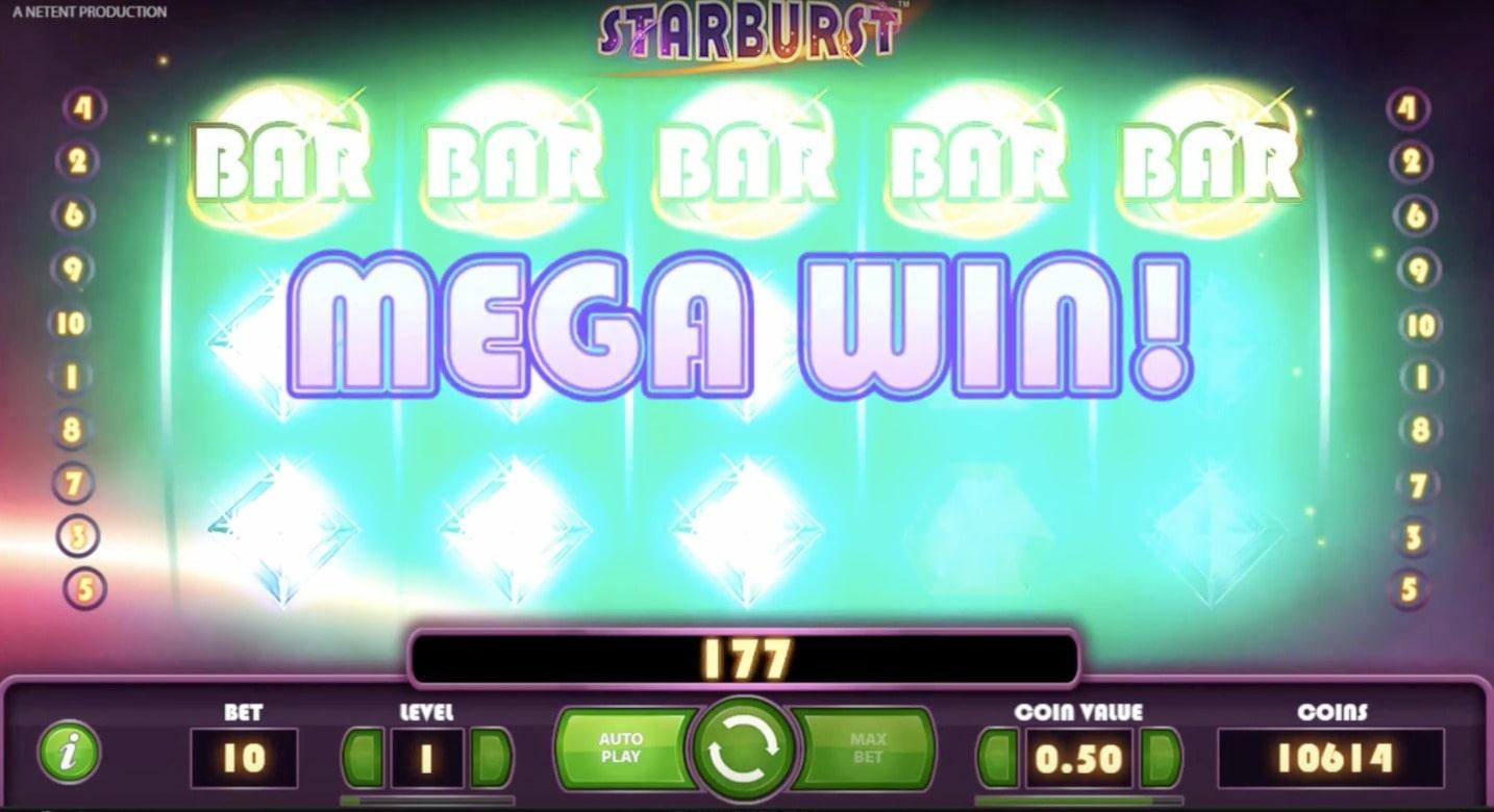 Starburst slot's mega win makes it one of the top winning slot games ever.