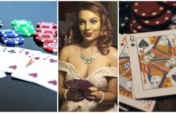 Female poker player grinning at a newbie who doesn't know the meaning of poker slang words.
