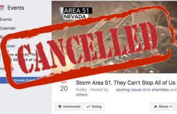 Storm Area 51 Facebook event is silent but the storming part is canceled just as the odds predicted.