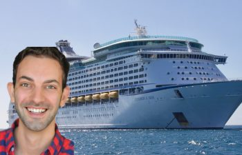 Brian Christopher smiling over the cruise ship, preparing for his slot cruise.