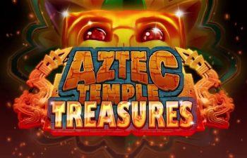 The logo of the Aztec Temple Treasures slot.