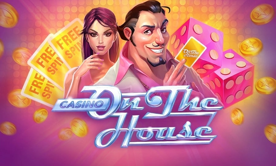 The logo of Casino on the House slot fitting into our Bob Casino review.