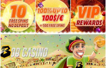Casino bonuses and Bob Casino mascot teaching the reader how to choose a casino bonus in 2020