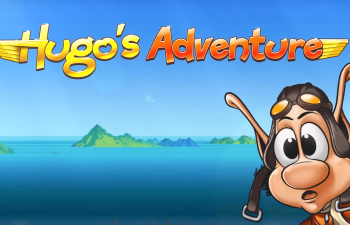Main character Hugo in awe of Bob Casino's Hugo's Adventure slot review.