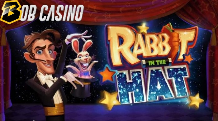 A magician on the logo of the Rabbit in the Hat slot.