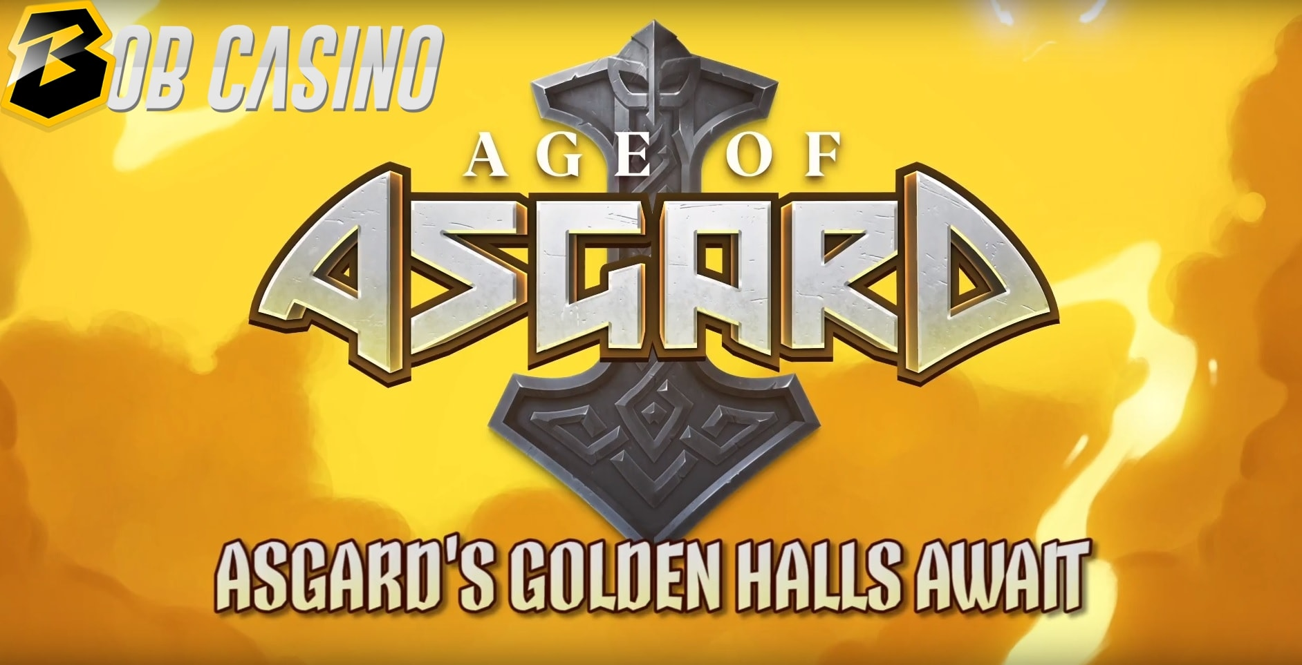 Age of Asgard slot logo from Yggdrasil surrounded by the Norse lightning.