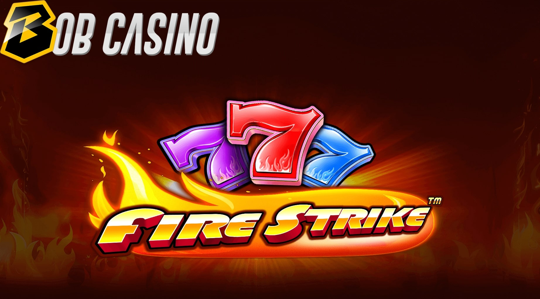 Three lucky sevens in the Fire Strike slot logo from Pragmatic Play.
