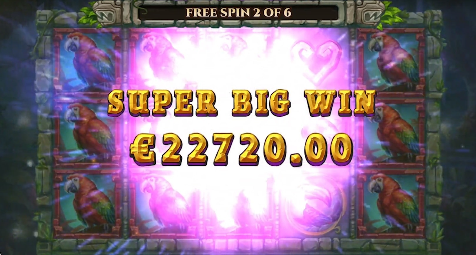Super Big Win in the Rainforest Magic slot from Play'N Go.
