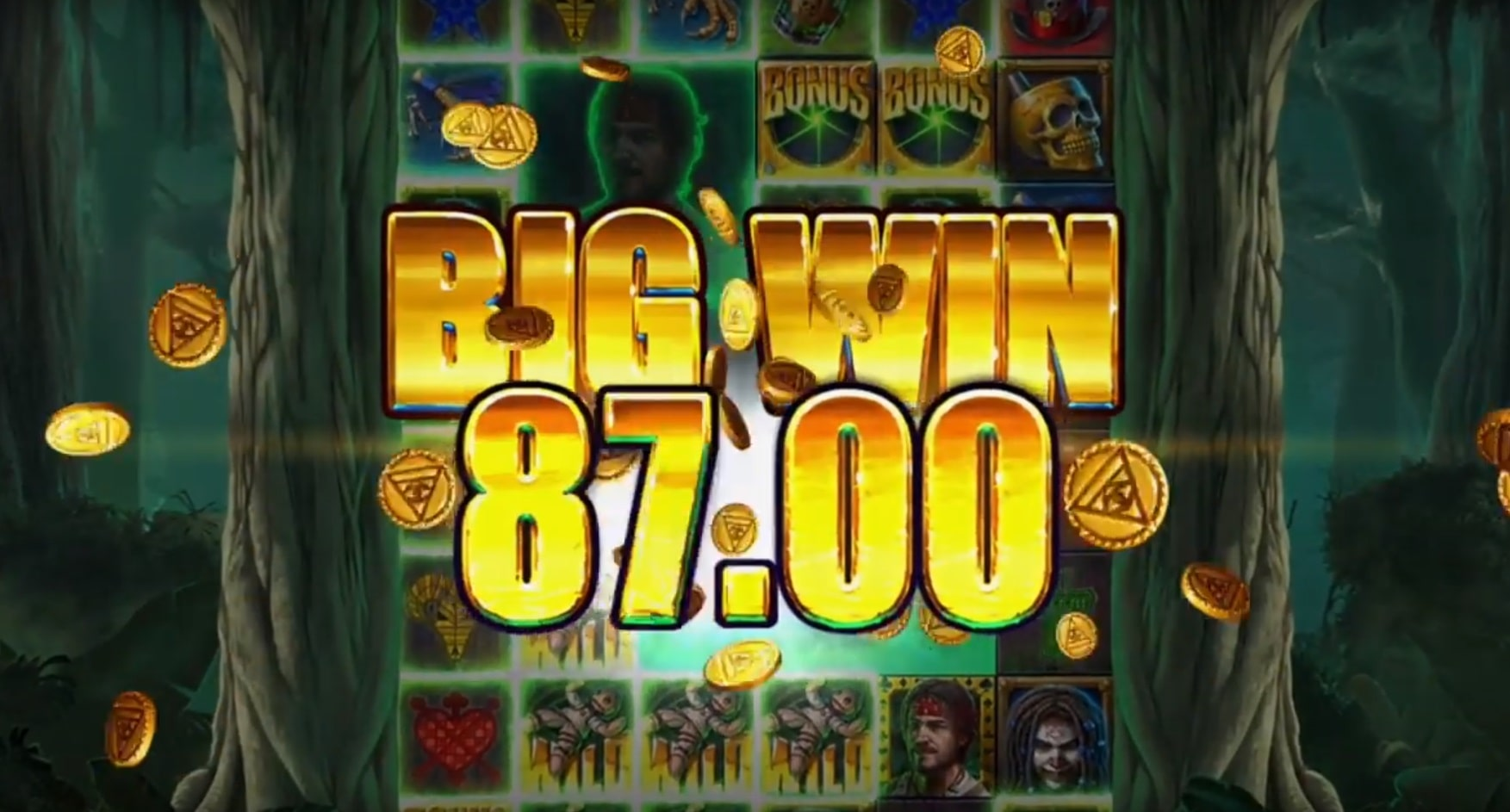 Big win featured in the Voodoo Gold slot from ELK Studios, one of the best new October 2019 slots.
