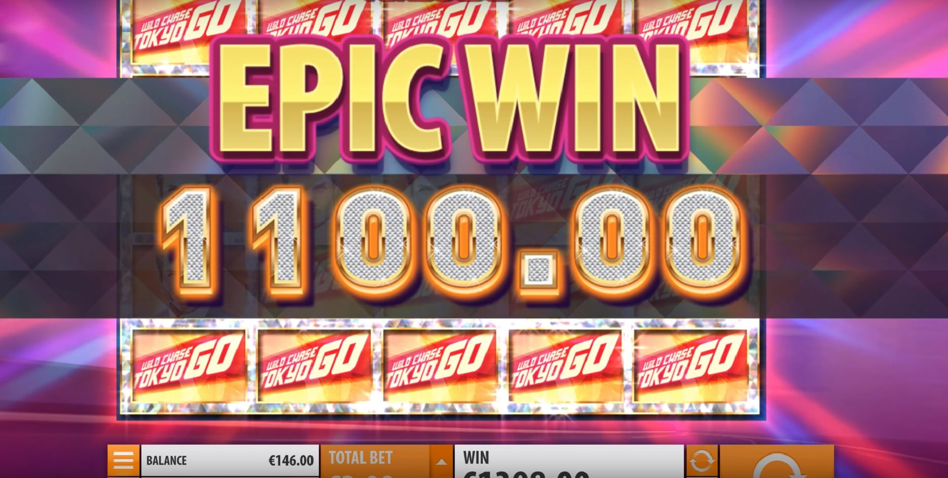 Epic Win in the Wild Chase: Tokyo Go slot, one of the best new slot games of October 2019.