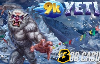 A hideous yeti next mount Everest on the logo of 9k Yeti slot made by 4ThePlayer and Yggdrasil.