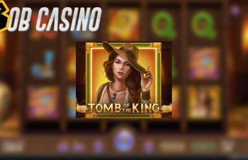 Tomb of the King slot logo and reels featured in the free demo on Bob Casino.