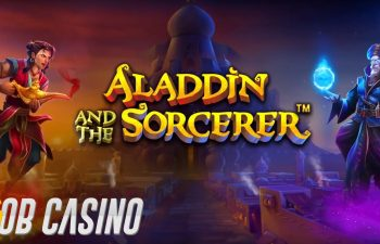 Aladdin and the Sorcerer slot logo from Pragmatic Play.