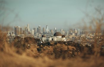 Griffith Observatory on a hill in California, the state that is about to legalize sports betting