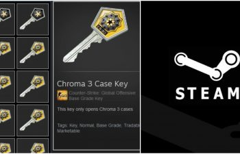CS:GO loot box keys displayed in Steam Community, which trading is now banned by Valve.