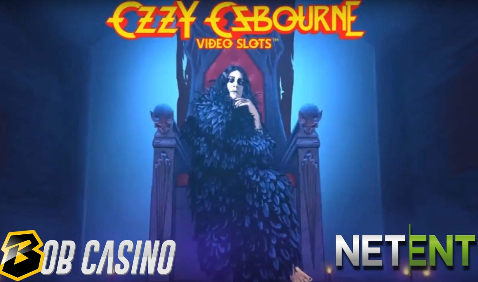 The Prince of Darkness judging our review of Ozzy Osbourne video slots games from NetEnt.