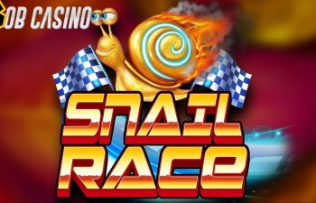 A lightning-fast snail racing to Bob Casino to read our Snail Race slot review from Booming Games.