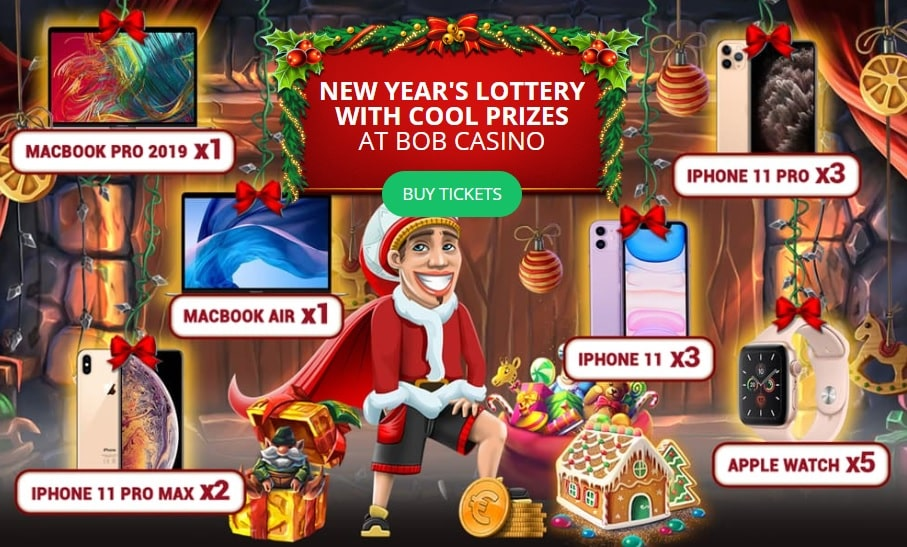 Bob with MacBook PRO, iPhone 11 and Apple Watch - the prizes of online lottery for the New Year 2020