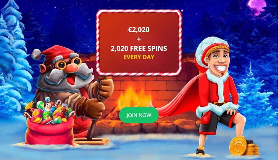 Bob and Santa are inviting players to join the best online casino tournament of the holidays!