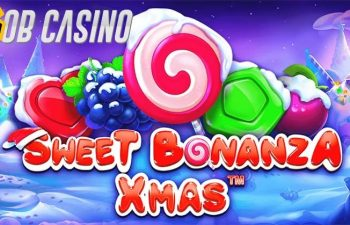 Christmas spirit is seen in the logo of the Sweet Bonanza Xmas slot.