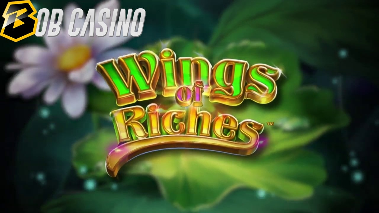 Flowers in the swamp of the Wings of Riches slot from NetEnt.