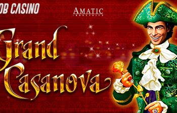 Casanova in a green suit featured in the Grand Casanova slot review.