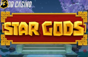 The logo of Star Gods slot from Quickfire/Golden Rock Studios.