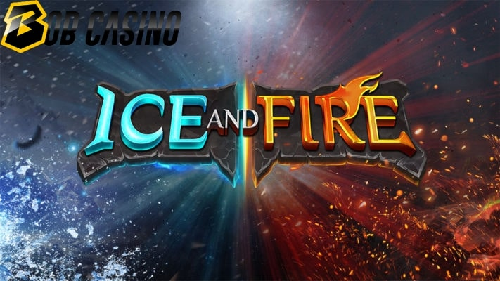 Logo of the Ice and Fire slot game in a review from Bob Casino.