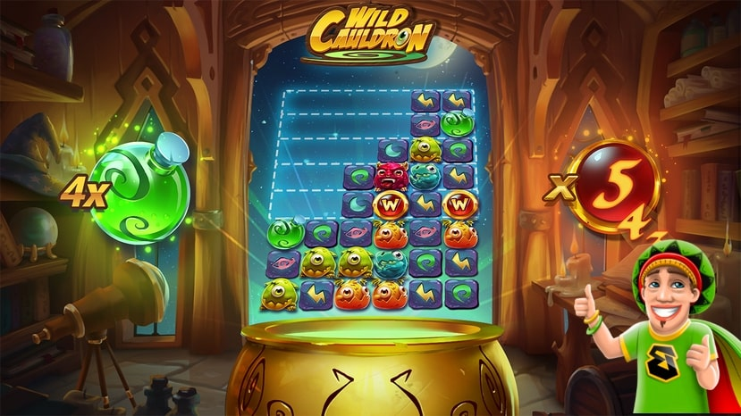 Slot reels of the Wild Cauldron slot game from Quickspin.