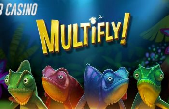 Yggdrasil's Multify slot logo in a review from Bob Casino.