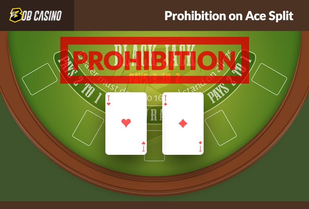 Prohibition on ace splitting in blackjack that is active in some casinos.