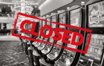 UK casino gaming halls closed due to coronavirus.