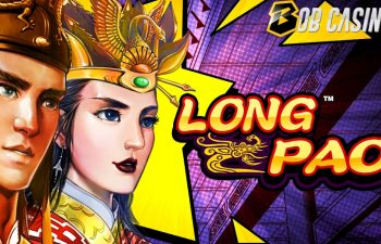 Long Pao slot logo in a review from Bob Casino.