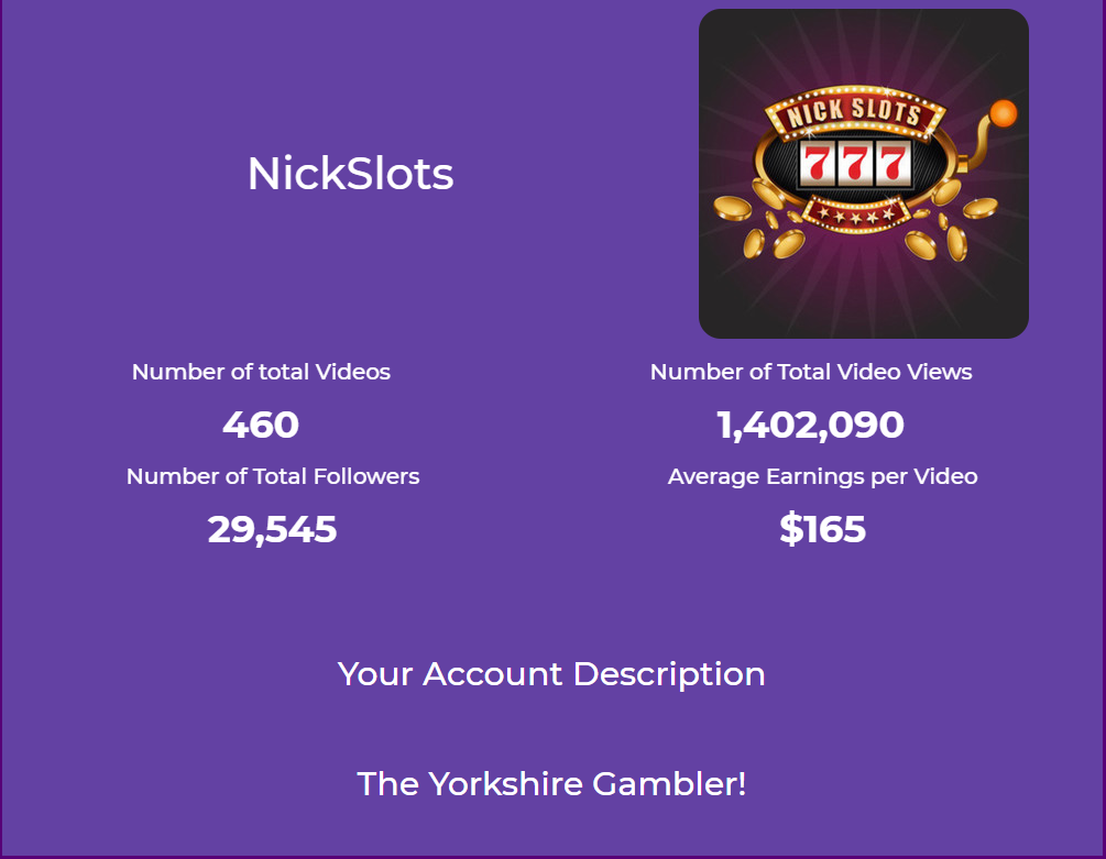 NickSlots twitch income and viewing statistics for January 2021.