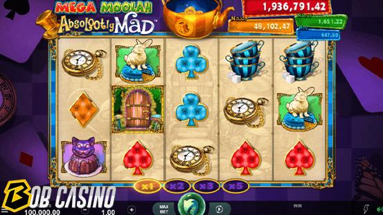 Mega Moolah online slot on Bob casino
