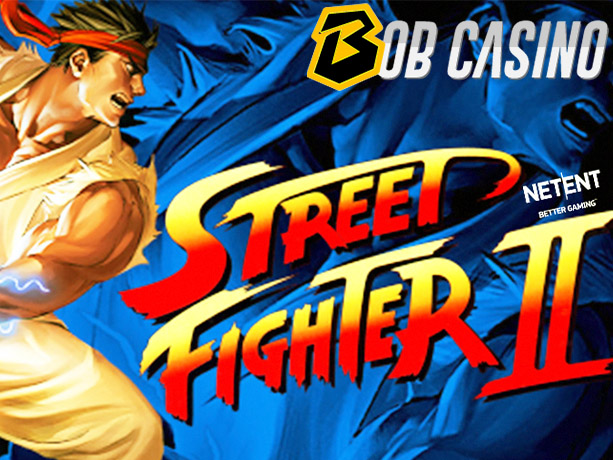 Street Fighter II: The World Warrior slot logo, reviewed on Bob Casino.