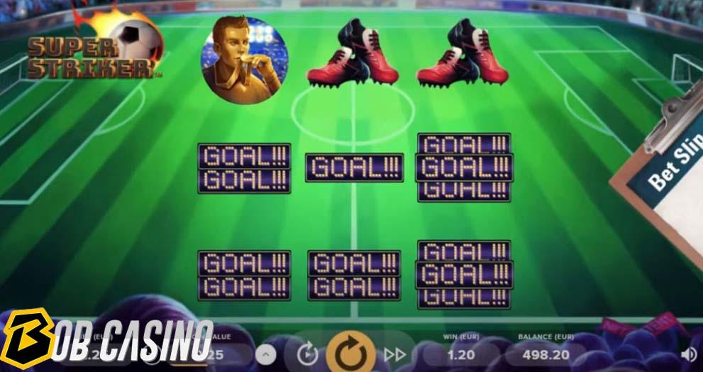 Super Striker Bonus Round on Bob Casino