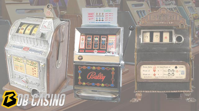 Different Vintage Slot Machines made throughout their history.