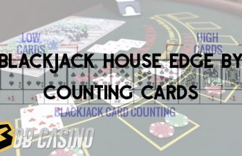 Counting cards in blackjack at a casino table