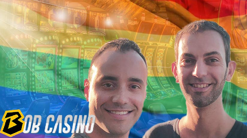 Famous casino slot YouTuber Brian Christopher and his husband Marco