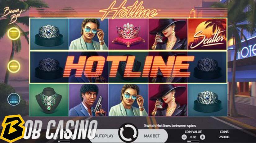 bonus round in hotline slot on bob casino